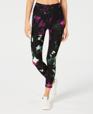 Calvin Klein Performance Printed High-rise Compression Leggings In Pine Combo