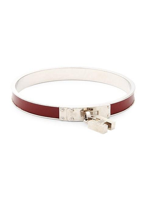 Herm S Vintage Kelly Bangle Bracelet In Red