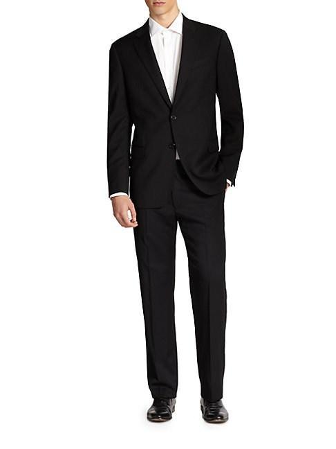 Giorgio Armani Core Gio Two-button Suit In Black