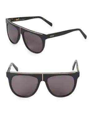 Balmain 57mm Square Sunglasses In Black