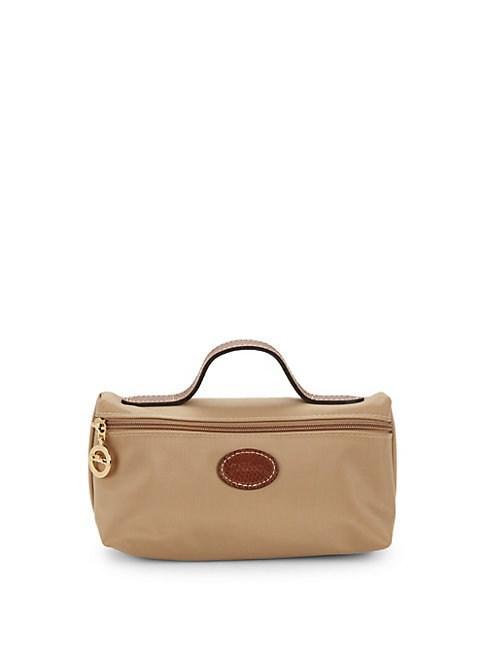 Longchamp Le Pliage Cosmetic Bag In Tan