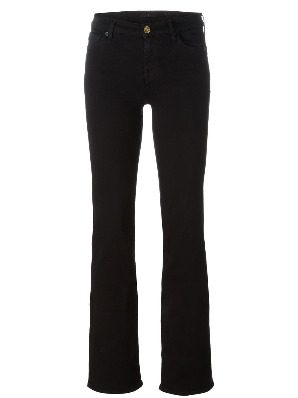 7 For All Mankind Slim Bootcut Jeans - Black