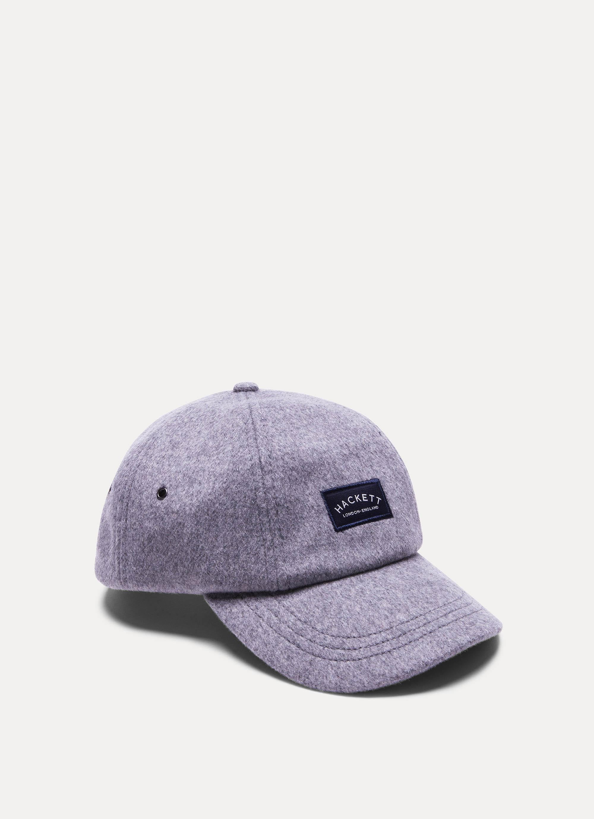 Hackett Logo Cotton Cap In Lt Grey