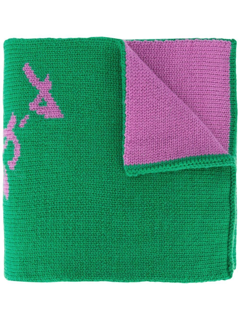 Tibi Double Jacquard Scarf - Green