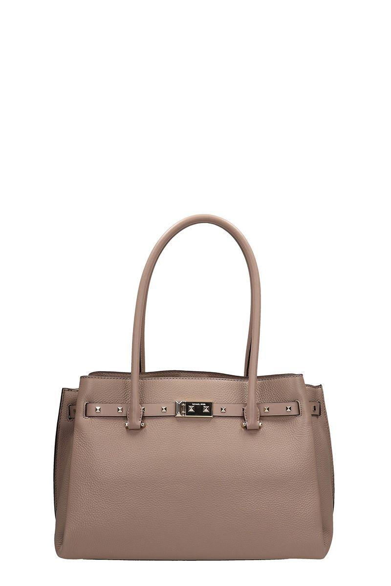 Michael Kors Beige Leather Addison Bag