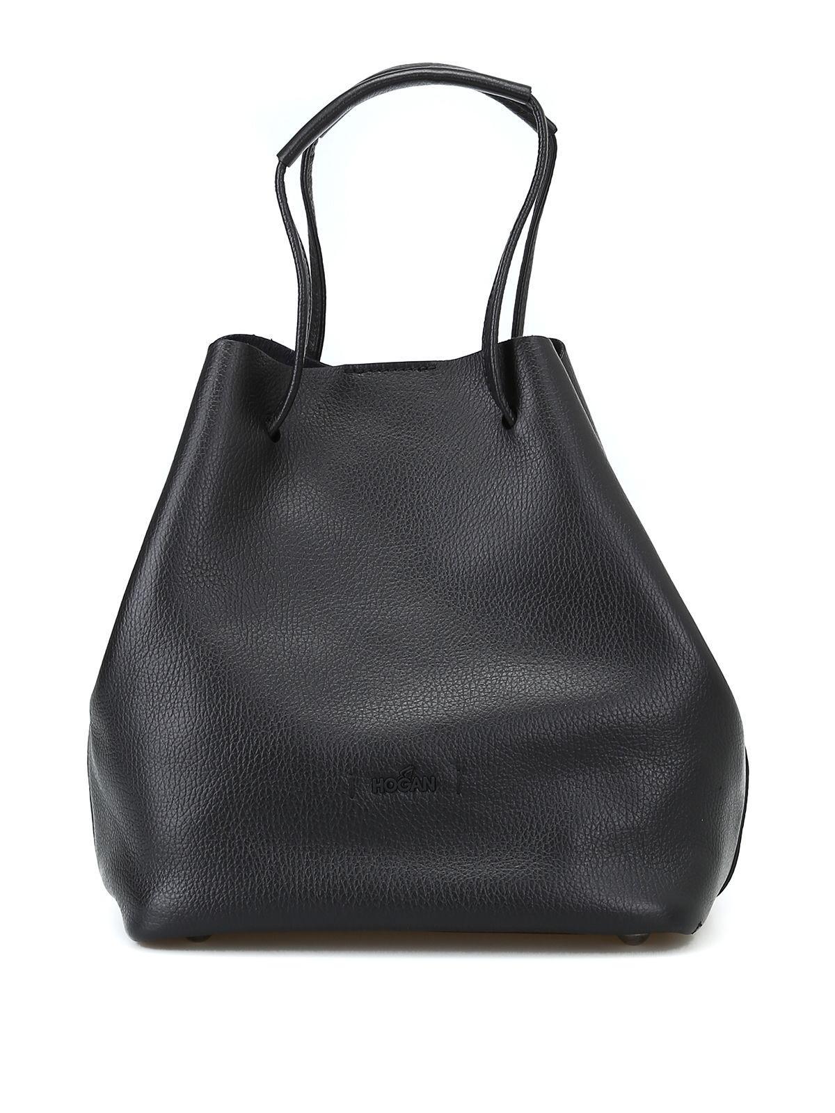Hogan Bucket Bag In Black