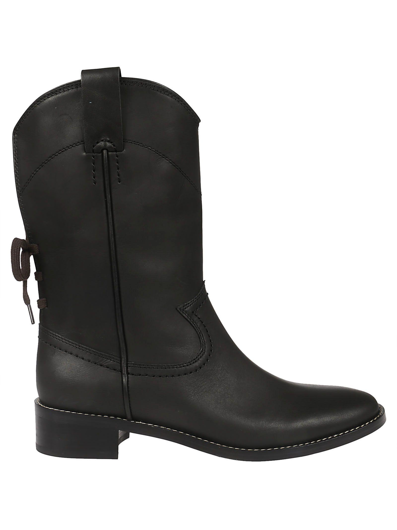 b52b02d9cc1d See By ChloÉ Western Ankle Boots In Nero