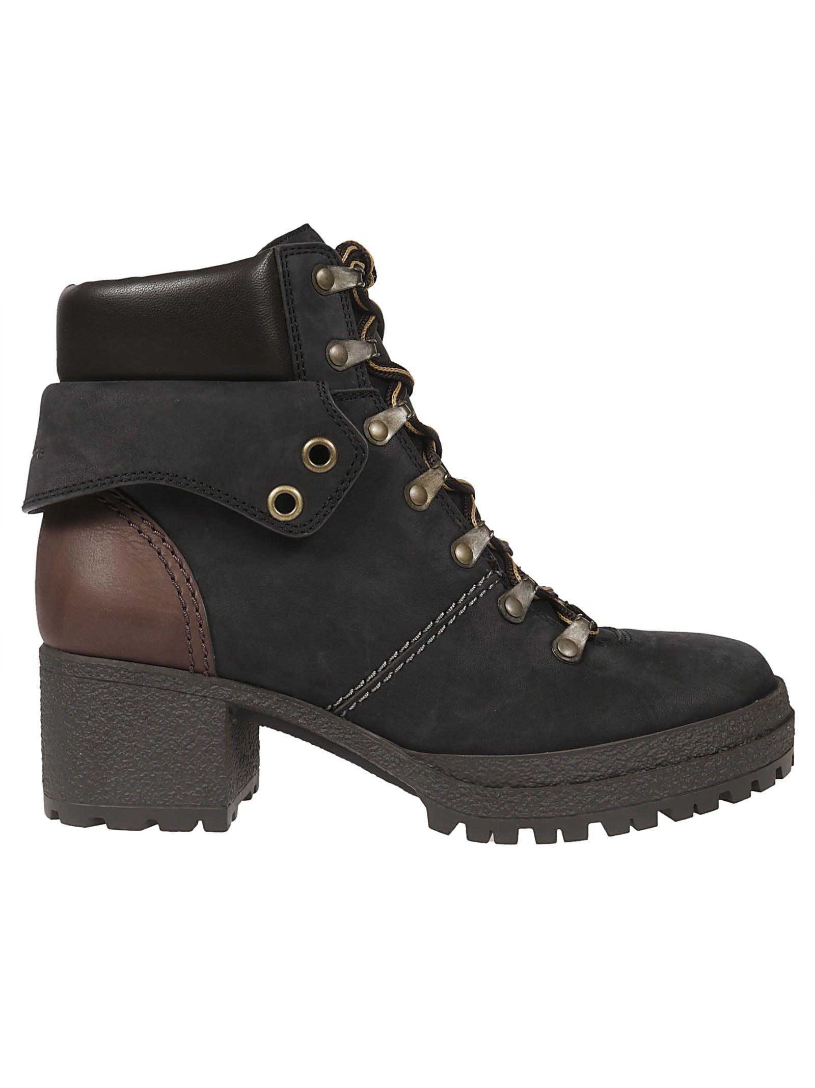 See By ChloÉ Eileen Lace-up Boots In Nero
