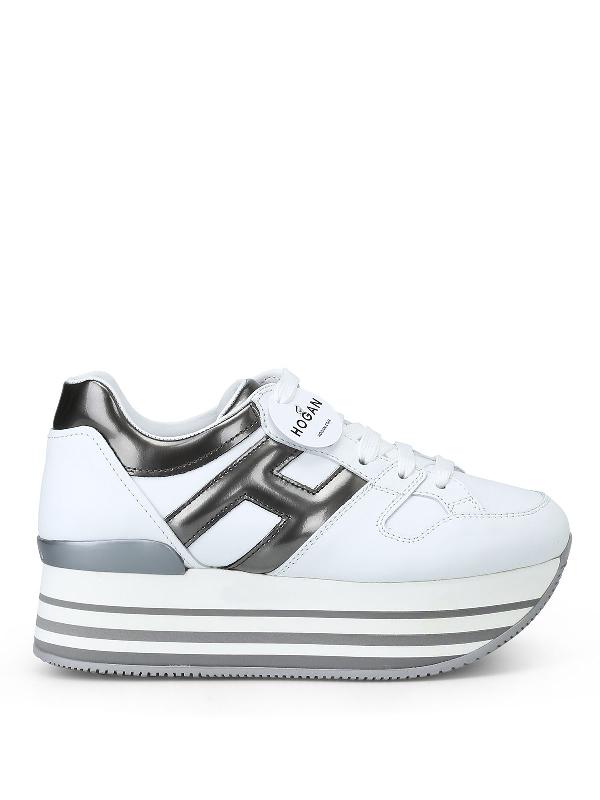 Hogan White/grey Maxi Sneakers