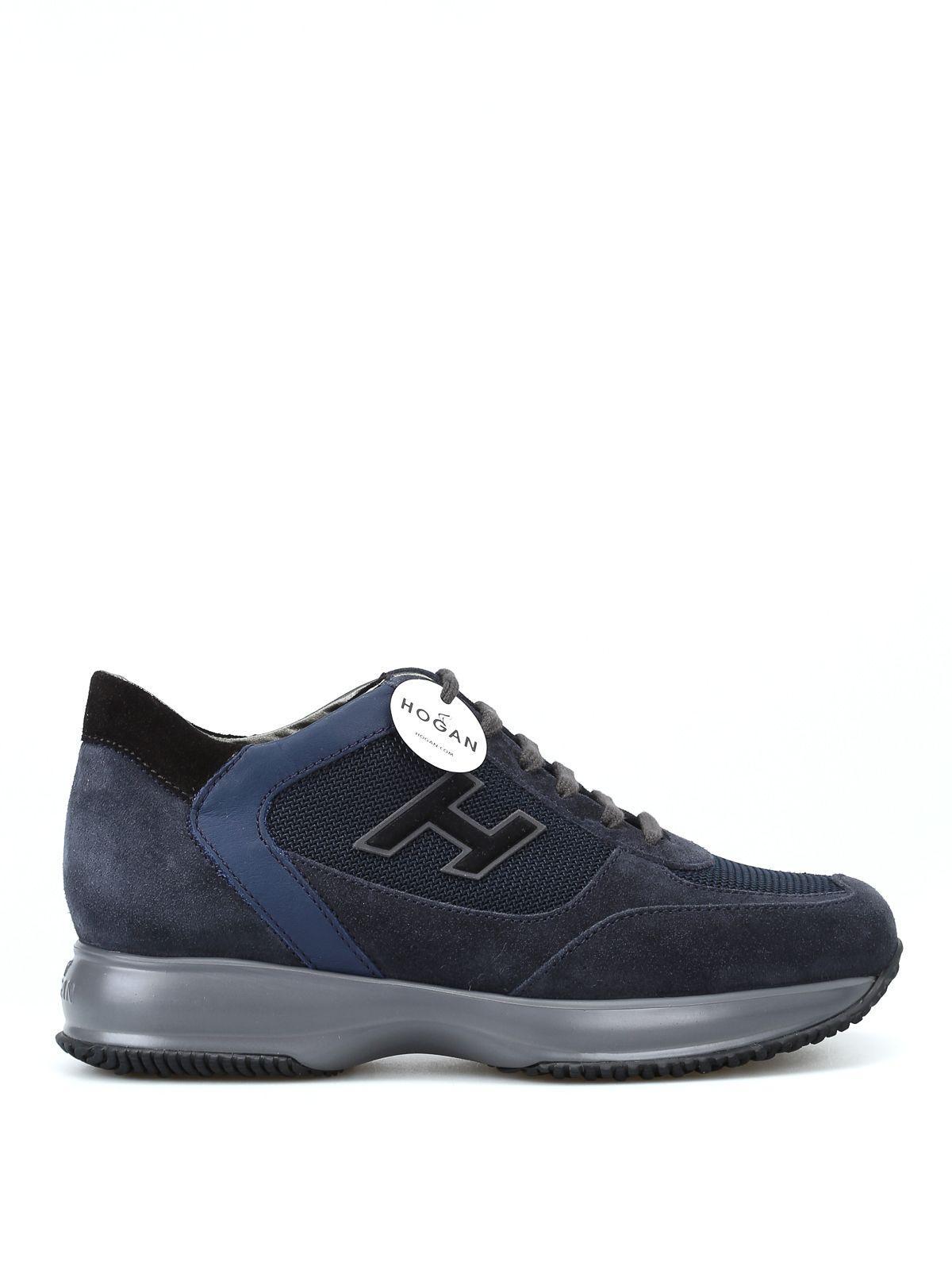 Hogan New Interactive Blue Suede Sneakers In Dark Blue
