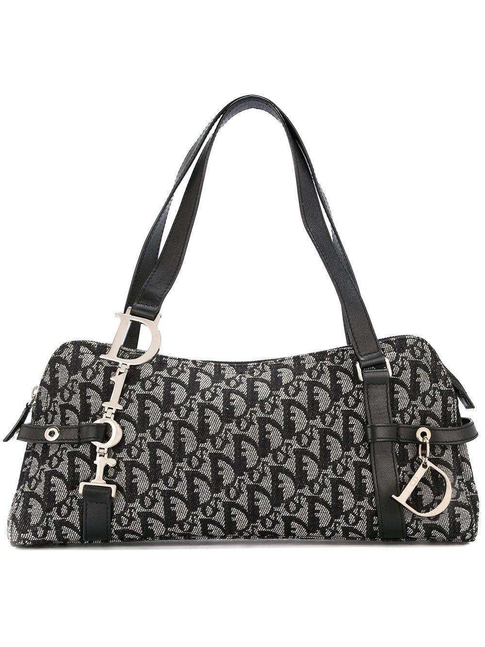 7a99c2f93 Dior Christian Vintage Trotter Hand Bag - Black | ModeSens
