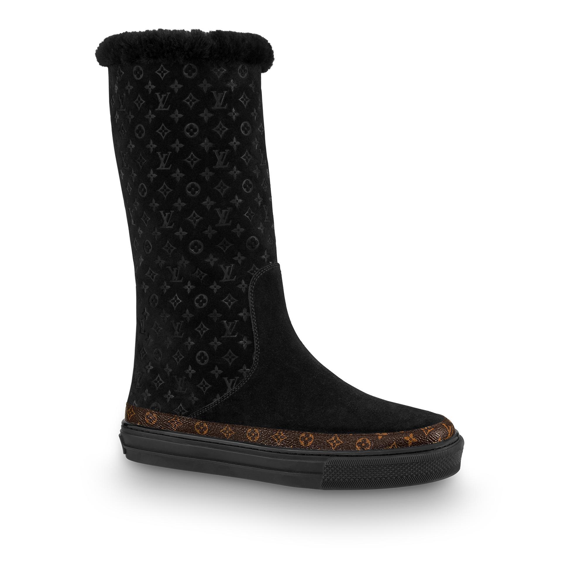 4dde8d8ca0 Snowball Flat Half Boot in Noir