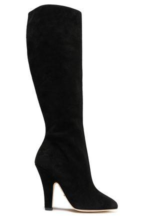 Dolce & Gabbana Woman Suede Knee Boots Black