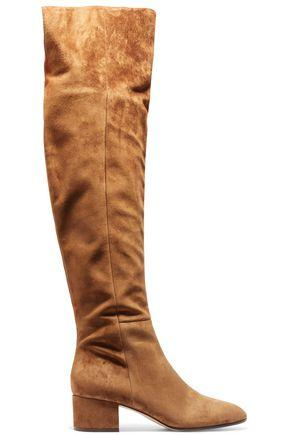 Gianvito Rossi Suede Over-the-knee Boots In Light Brown