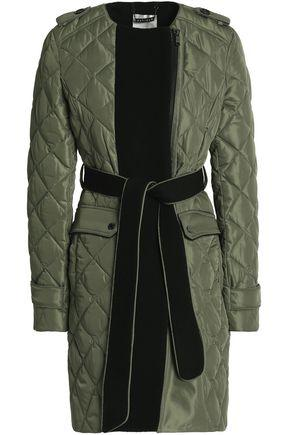 Ashley B. Woman Quilted Shell Down Jacket Army Green