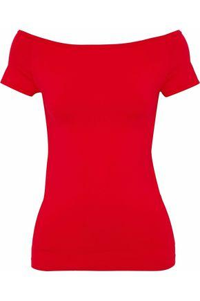 Helmut Lang Woman Stretch-knit Top Red