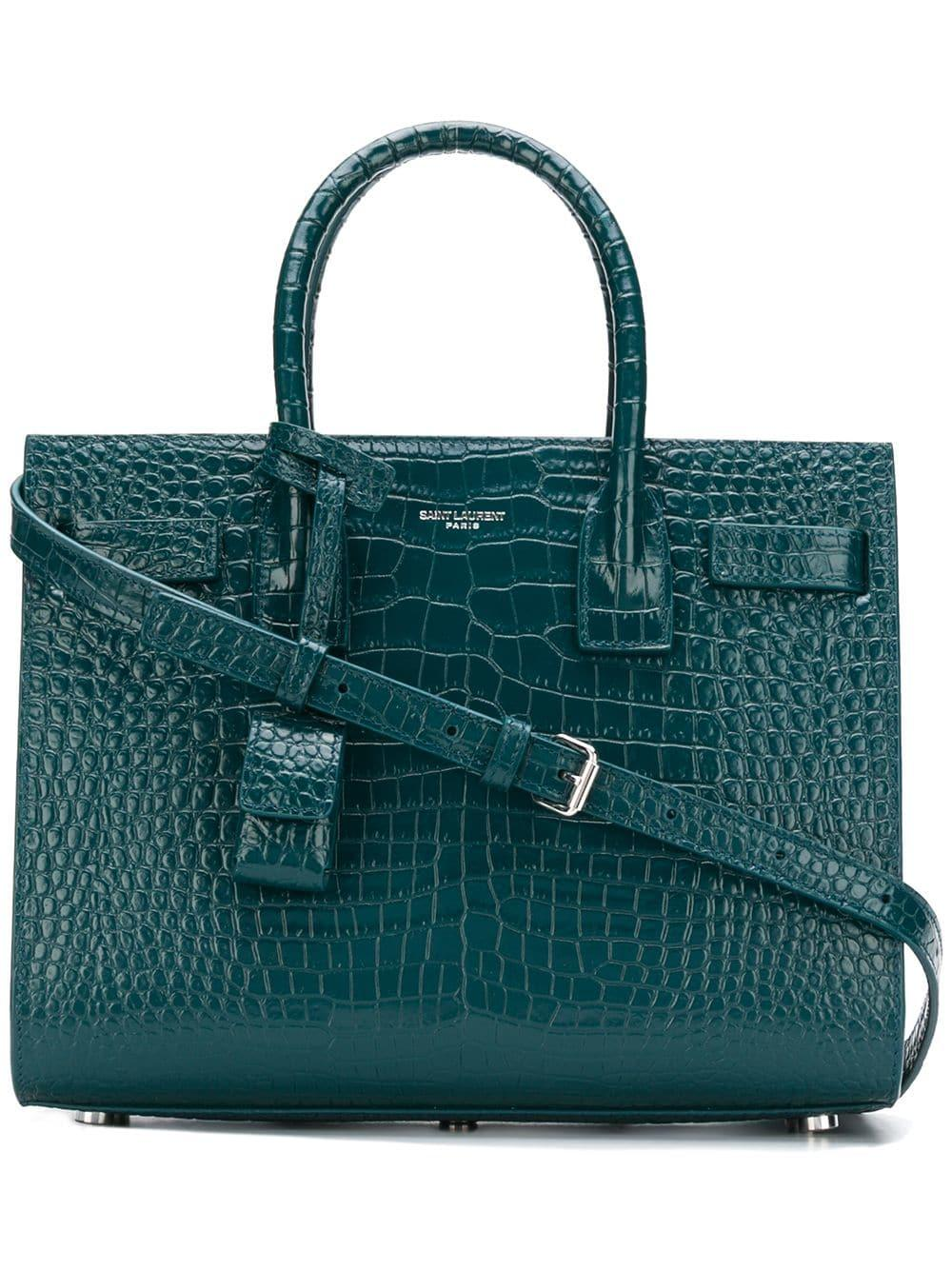 4b95c3313b5 Saint Laurent Small Sac Du Jour Handbag - Green | ModeSens