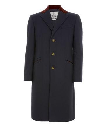 Vivienne Westwood Castle Coat Navy