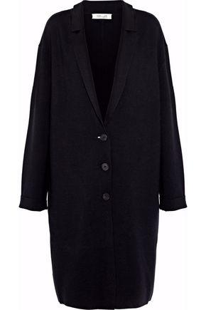 Diane Von Furstenberg Woman Merino Wool-Blend Coat Black