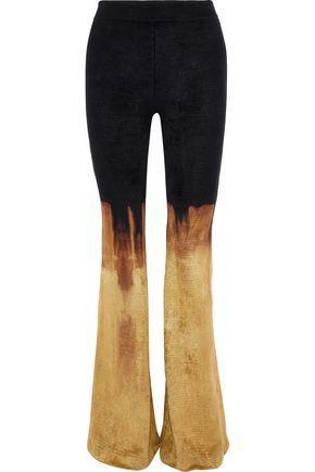 Balmain Woman DéGradé Chenille Bootcut Pants Black