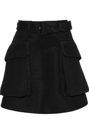 Simone Rocha Woman Belted Neoprene Mini Skirt Black