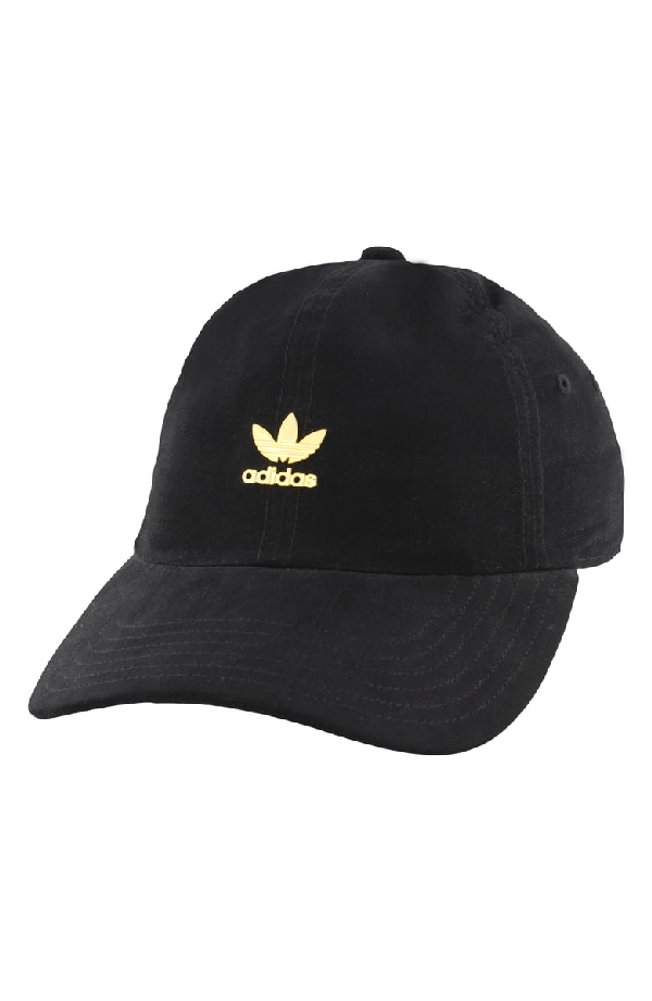 6586f068 ADIDAS ORIGINALS. Originals Metal Relaxed Adjustable Back Hat, Women'S,  Black ...