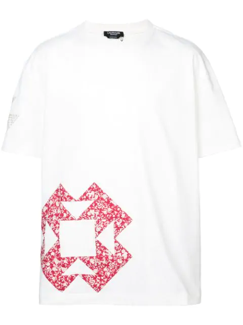 Calvin Klein 205w39nyc Printed Loose Fit T-shirt In White