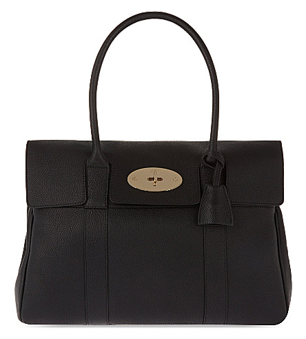 Mulberry Bayswater Small Grained Leather Bag In Black