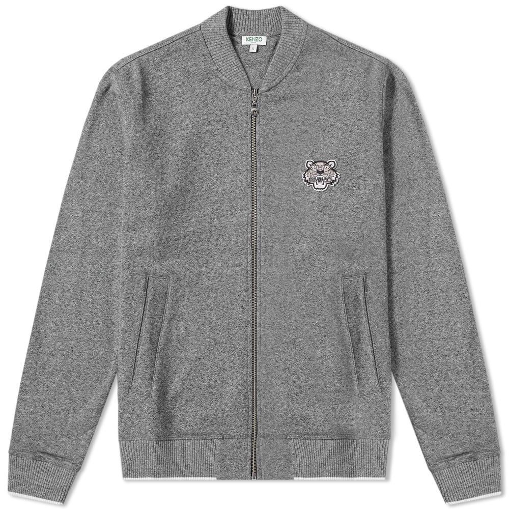 96a044e2db97 Kenzo Tiger Logo Zip Bomber Jacket In Grey | ModeSens