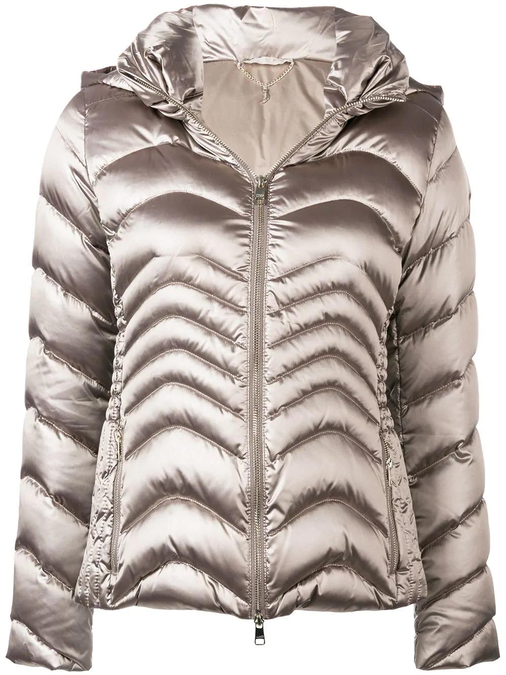 fb06222741 Liu •Jo Liu Jo Satin Puffer Jacket - Neutrals | ModeSens