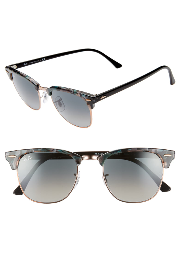 6a179f4f9901 Ray Ban Clubmaster 51Mm Gradient Sunglasses - Grey/ Green Gradient In  Spotted Grey/Green