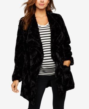 23e52daa3e0c3 Bb Dakota Maternity Faux-Fur Jacket In Black   ModeSens