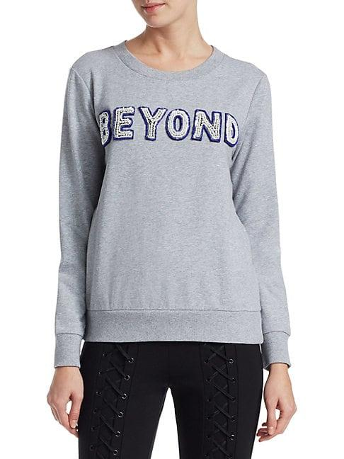 Scripted Beyond Cotton-blend Sweatshirt In Heather Grey