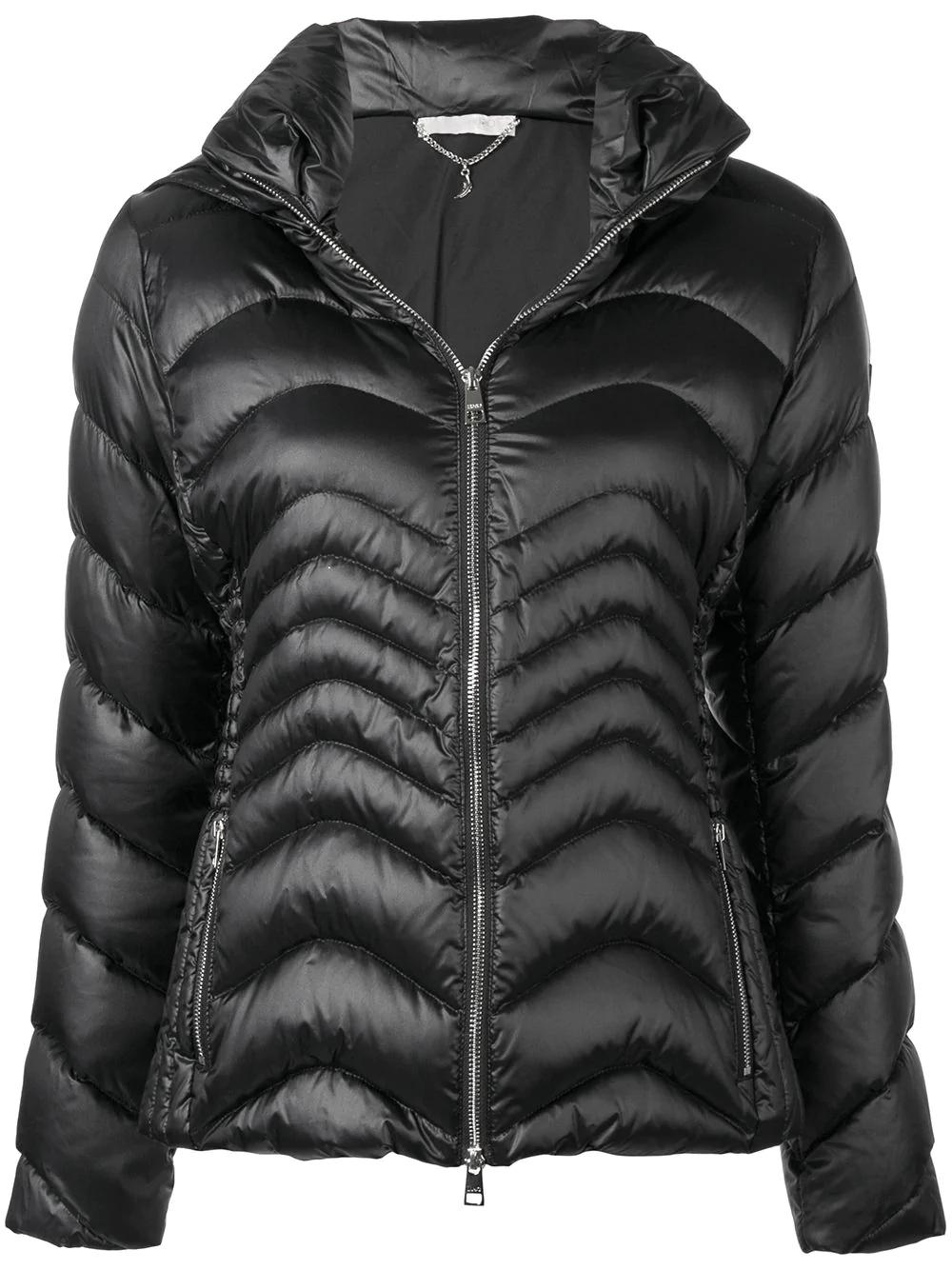 6f51854e8a Liu •Jo Liu Jo Hooded Puffer Jacket - Black. SIZE & FIT INFORMATION