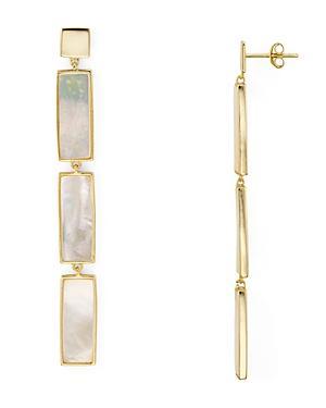 01eaa6147 Argento Vivo Geometric Mother-Of-Pearl Linear Drop Earrings In 18K Gold- Plated