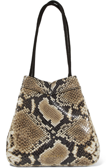 66ce846f7d Rejina Pyo Rita Snake-Effect Leather Bucket Bag In Snake Print ...