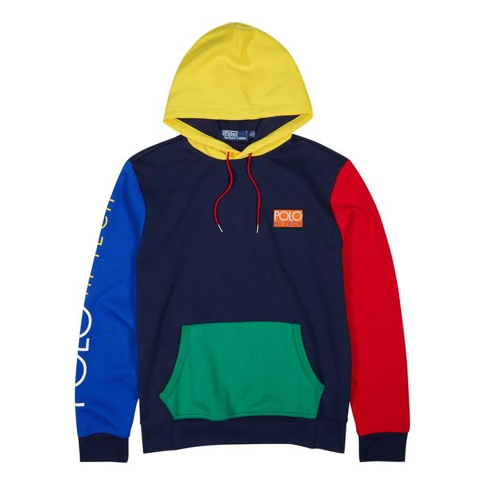 competitive price 14e81 69beb Polo Ralph Lauren Colour-Block Hooded Jersey Sweatshirt In Multi