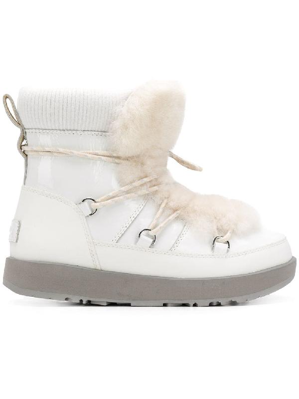 0d3fa92bae4 Women's Highland Round Toe Leather & Sheepskin Waterproof Boots in White