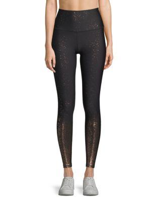 2e2b46ac48 Beyond Yoga Alloy Ombre Metallic High-Rise Leggings In Black Gunmetal  Speckle