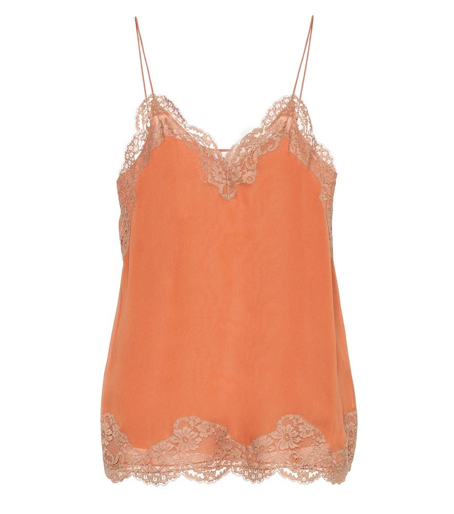 ChloÉ Lace-Trimmed Camisole In Orange