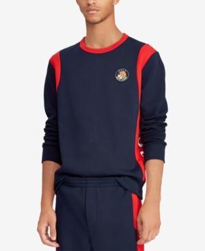 7042a718f Polo Ralph Lauren Downhill Skier Men s Double-Knit Sweatshirt In Aviator  Navy Multi