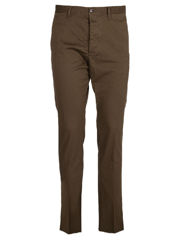 Dsquared2 Cropped Trousers In Military