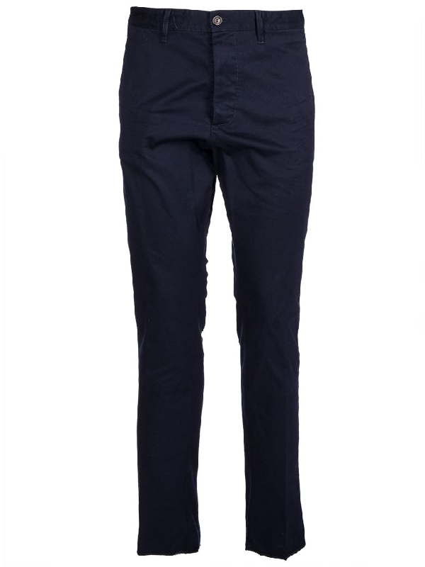 Dsquared2 Cropped Trousers In Navy
