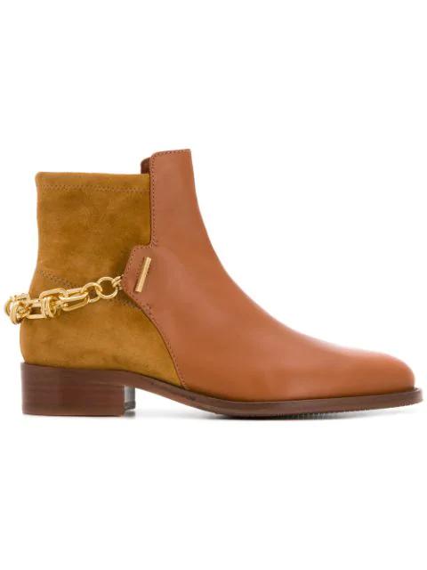 Stuart Weitzman Low Heel Boots In Brown