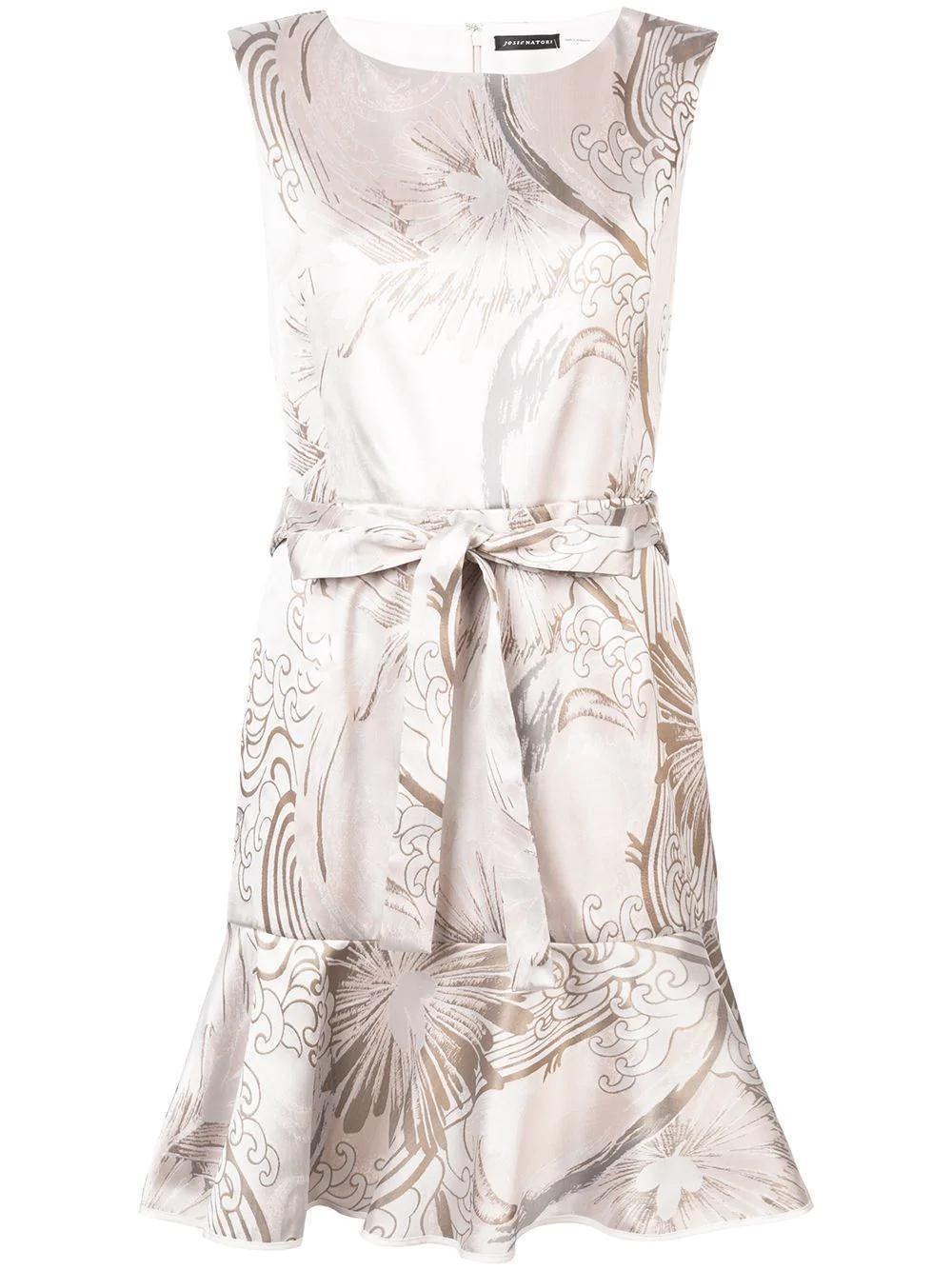 184691f902508 Josie Natori Kleid Mit GerüSchtem Saum - Weiß In White