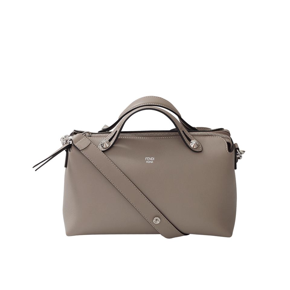 Fendi By The Way Boston Small Bag In Grey