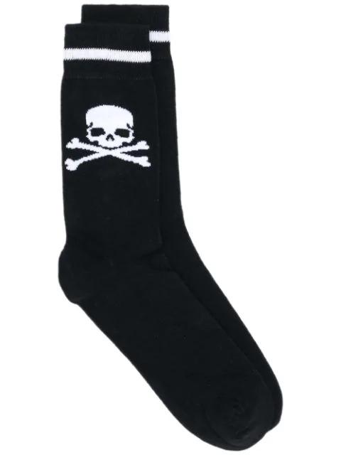 Philipp Plein Skull Knit Socks In Black