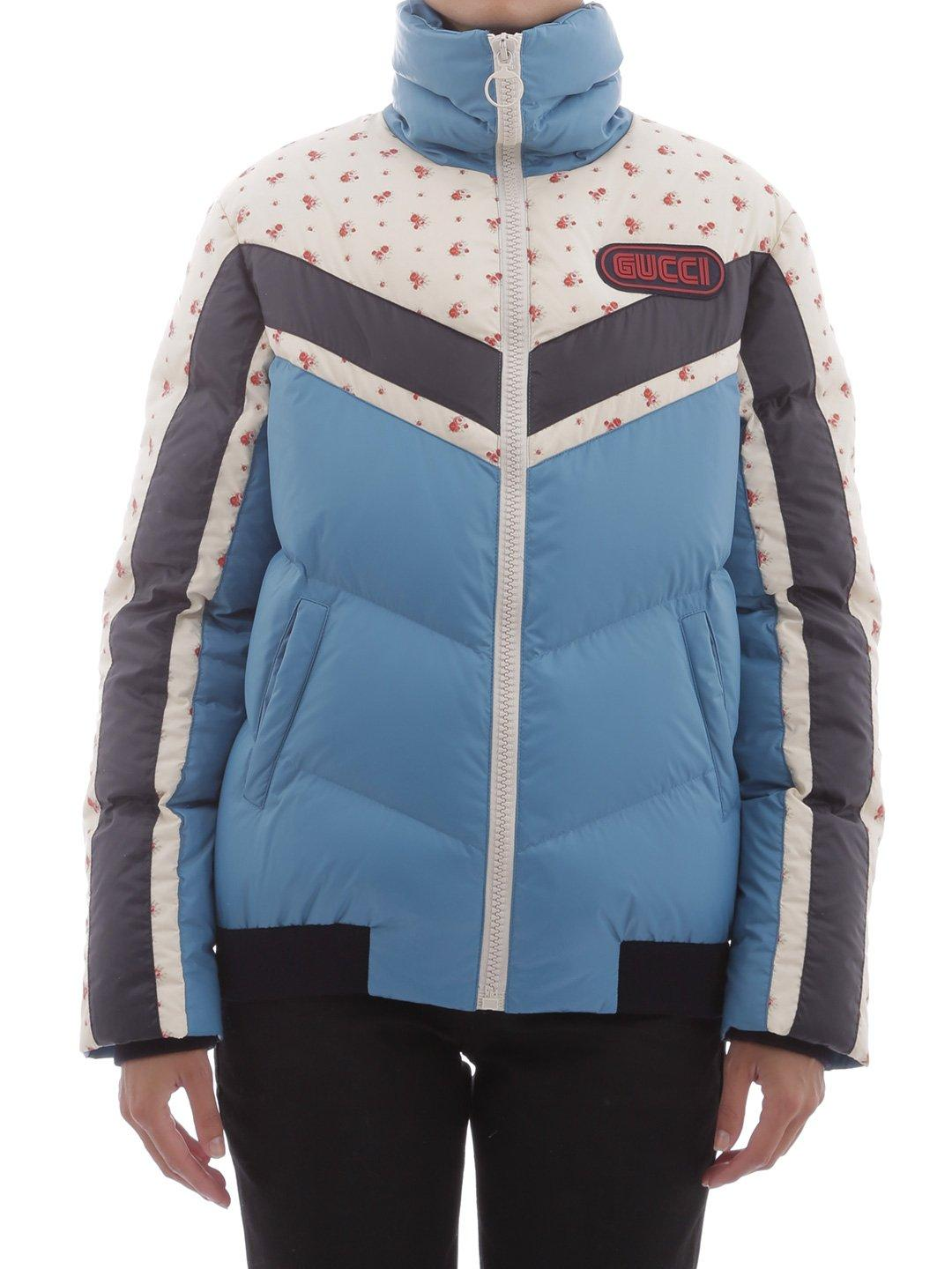 934fc8b1 Gucci Logo Patch Puffer Jacket In Blue | ModeSens