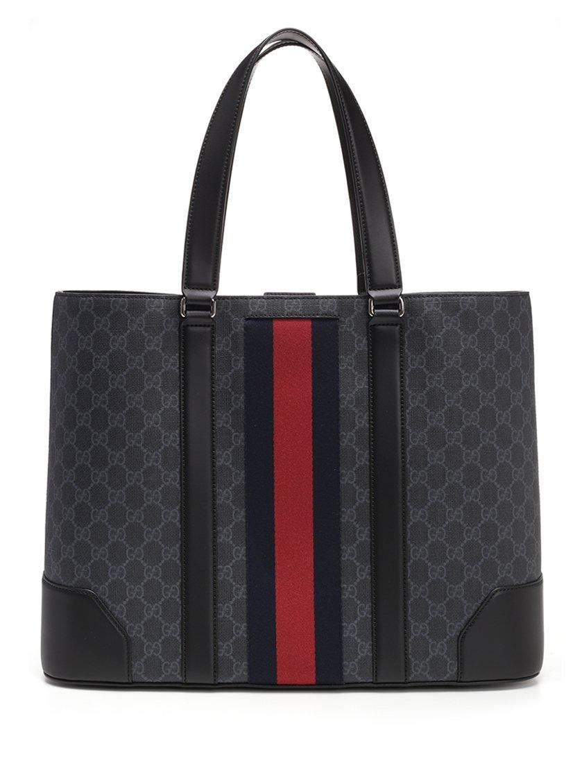 e8e83b0cadb Gucci Gg Supreme Tote Bag In Black. CETTIRE