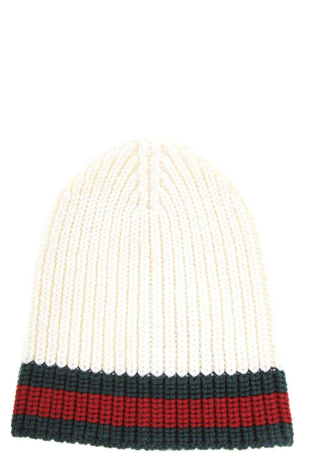e9f20102b85 Gucci Cable Knit Beanie Hat In White